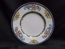 """Minton B898, Smooth Edge, Blue Bands, Floral: Bread Plate 6 1/4"""" AS IS Crazed"""