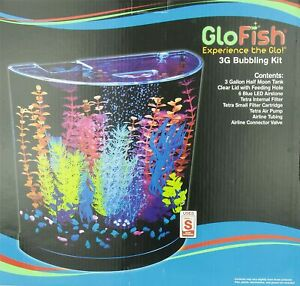 GloFish Aquarium Kit Fish 3G Tank Blue LED Tetra - NEW in DAMAGED BOX