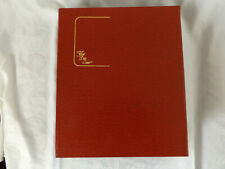 COTSWOLD COVERS SPECIAL COVER ALBUM WITH 10 PAGES RED ALBUM