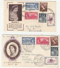 New Zealand: Two QE2 Coronation Covers, intra-Dannevirke & to Hawick, 1953
