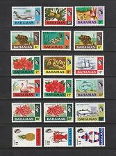 BAHAMAS #313-330 Mint Hinged (#7 Used) 1971 Definitive Set of 18 Complete CV $36