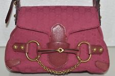 NEW GUCCI Tom Ford Era GUCCISSIMA Canvas DEEP PINK Handbag Bag Gold HORSEBIT