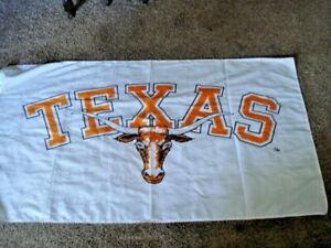 """Texas Longhorns WHITE Premium 34"""" by 58"""" Flag w/grommets Outdoor Banner"""
