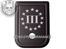 For Glock Magazine 10mm .45 cal BLK Plate 20 21 29 30 40 41 3 Percenter US 4