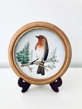 Rare Vtg 1973 Goebel W. Germany wildlife Annual Collector Plate framed robin 1st