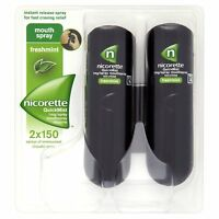 A Nicorette QuickMist Mouth Spray Duo Pack, Fresh Mint, 1 Mg (Stop Smoking Aid)