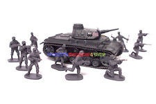 New Caesar 1/72 WWII German Army Men Figures (10pcs Diff. Poses) Toy Soldiers