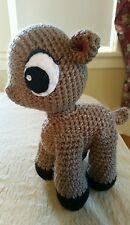 "Handmade Amigurumi Crochet Baby Deer Fawn doll plush 9"" cute animal christmas"
