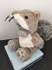 RARE ME TO YOU ANIMAL TATTY TEDDY BEAR ON BOX - DRESS UP - SQUIRREL