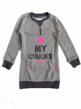 Converse Girl`s Dress Sweatshirt Grey Size 5-6 YEARS