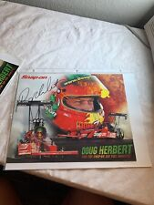 Signed Doug Herbert  Snap on Top Fuel Dragster NHRA Photo Card 8 X 10 N 252