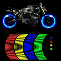 18' Motorcycle Wheel Rim Reflective Stickers Moto Bicycle Decal Car Wheel Sticke