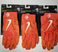 New Nike Huarache Elite Baseball Batting Gloves Orange PGB642 Mens Medium Large