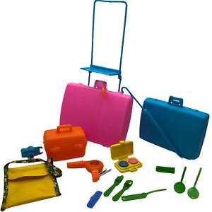 Vintage Barbie 1970s Get Aways Luggage Travel Set w Cart Suitcases Accessories