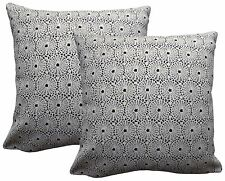Pack of 2 Woven Crochet Effect Design Cushion Covers