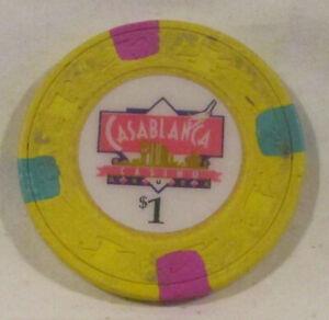 $1 Chip from the Casablanca Casino,  California