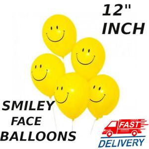 10 -100 PCS Yellow Smiley Printed Latex  Ballons Emoji Face Smile Birthday PARTY