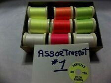 9 SPOOLS DANVILLE SINGLE STRAND STRETCH NYLON THREAD