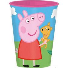 BICCHIERE PEPPA PIG IN PLASTICA SET PRANZO SCUOLA ASILO