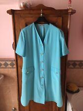 DELIA FERRARI Made In Italy vestito abito chemisier azzurro turchese T.46/48