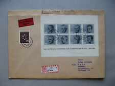 GERMANY BRD, expresse R-cover 1965, correct franking ao S/S ann. attack on H.