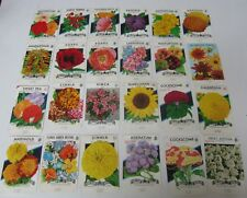 Lot of 24 Old Vintage 1960's FLOWER SEED PACKETS - Lone Star - TEXAS - EMPTY