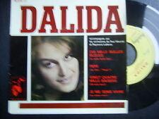 DALIDA EP 45t PEPE 10000 BULLES BLEUES BELGIUM + 2
