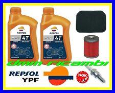 Kit Tagliando SUZUKI BURGMAN 400 AN 04 Filtro Olio Aria Candela NGK REPSOL 2004