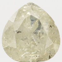 Natural Loose Diamond Pear I2 Clarity Light Yellow Color 4.20 MM 0.36 Ct N5600