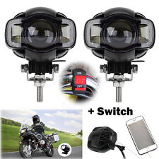 """Pair 3.5"""" Motorcycle Spot Lamp LED Fog Driving Light DRL & Switch Fr BMW R-1200G"""