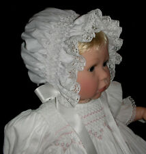 NEW Smocked Baby's Bonnet - Stella _ From Premie to 18 mths