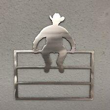 Cowboy Fence 2 Aluminum Metal Wall Art Skilwerx w West 1 Rodeo