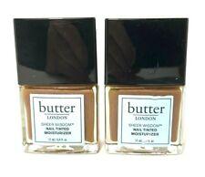 Lot/2 Butter London Sheer Wisdom Nail Tinted Moisturizer ~ Deep ~ .4 oz