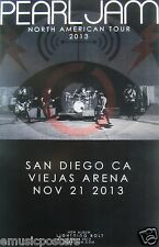"""PEARL JAM SAN DIEGO """"NORTH AMERICAN TOUR 2013"""" CONCERT POSTER - Band In Concert"""