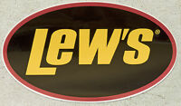 """Lew's Lews Decal 13"""" X 7-3/4"""" NEW Each"""