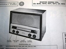 SPARTON 141A, 4970, 4971, & 4972 RADIO PHOTOFACT