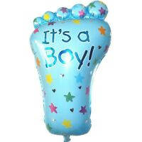 """3D XL 27"""" BLUE LARGE ITS A BOY FOIL HELIUM BALLOON BABY SHOWER CHRISTENING PARTY"""