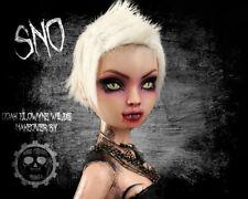 """SNO"" OOAK Tonner Ellowyne Wilde Vampire Dressed Makeover Doll by Kedra Barrett"