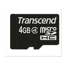 MICRO SD Transcend 4GB Trans Flash memoria automazioni MP3 MP4 smartphone GPS