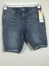 Cherokee Bermuda Girls Jeans Size 14 Sequin Children Trousers Short Pant