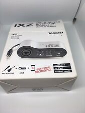 Tascam iXZ Mic Guitar recording interface iPad iPod-touch And iPhone