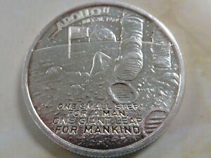 Apollo 11 Moon Landing JFK Neil Armstrong NASA One Small Step 1 oz .999 Silver