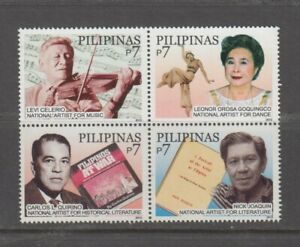 Philippine Stamps 2010 National Artist (Levi Celerio,Nick Joaquin,Leonor Orosa,