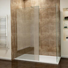 Walk in Shower Cubicle Enclosure and Tray &waste Screen Panel Wet Room 1400x700mm 760mm