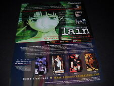 LAIN i'm still here...I abandoned my body Vintage ANIME Promo Ad mint condition