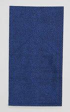 POCKET SQUARE Blue Random Dot Flat Top - Prefolded & Sewn to just slip in pocket