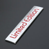 10.4cmx2.2cm 3D Silver+Red Limited Edition Logo Emblem Badge Decal Sticker