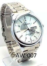New Citizen Man  Silver-tone, White-dial, Day-date-window Dress Watch