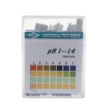 1-14 PH 100Strips Alkaline Acid Indicator Paper Water Saliva Litmus Testing Kit