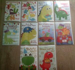 HAPPY BIRTHDAY CARD*FOR CHILDREN*DINO*DINOSAUR*CHOOSE DESIGN*GIRL*BOY*GREETING